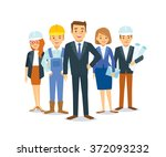 building company | Shutterstock .eps vector #372093232