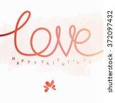 love type happy valentine's... | Shutterstock .eps vector #372097432