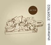 vector hand drawn food sketch...   Shutterstock .eps vector #372097822