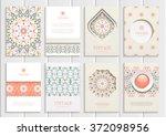 stock vector set of brochures... | Shutterstock .eps vector #372098956