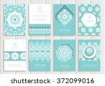 stock vector set of brochures... | Shutterstock .eps vector #372099016