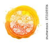 pizza. vector illustration | Shutterstock .eps vector #372105556