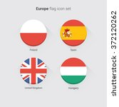 european countries flat flags... | Shutterstock .eps vector #372120262