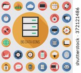 vector flat big data icons set | Shutterstock .eps vector #372121486