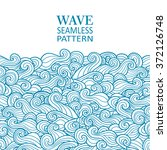 waves seamless border pattern.... | Shutterstock .eps vector #372126748