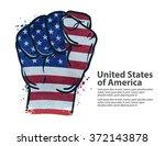 fist.  flag usa  united states... | Shutterstock .eps vector #372143878