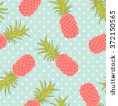 seamless tropical pineapple... | Shutterstock .eps vector #372150565