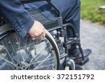 man on wheelchair | Shutterstock . vector #372151792