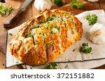homemade cheesy pull apart...   Shutterstock . vector #372151882