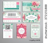 set of loyalty cards. delicate... | Shutterstock .eps vector #372151888