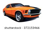 american 70s customized muscle... | Shutterstock .eps vector #372153466