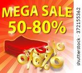 shopping bag with golden... | Shutterstock . vector #372155362