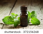 essential oil of peppermint in... | Shutterstock . vector #372156268