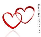 3d hearts   great for topics... | Shutterstock . vector #372162892