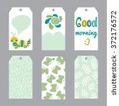 cute vector set of printable... | Shutterstock .eps vector #372176572