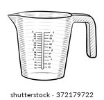 measuring cup | Shutterstock .eps vector #372179722