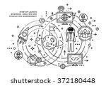 flat style  thin line art... | Shutterstock .eps vector #372180448