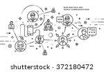 flat style  thin line art... | Shutterstock .eps vector #372180472