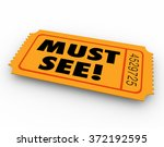 must see words on a ticket to a ... | Shutterstock . vector #372192595