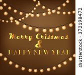happy new year  christmas... | Shutterstock .eps vector #372198472