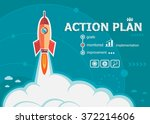 action plan and concept... | Shutterstock .eps vector #372214606