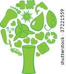 eco doodle tree | Shutterstock .eps vector #37221559