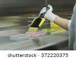 researcher transfers testing... | Shutterstock . vector #372220375