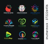 brain logo idea logo creative... | Shutterstock .eps vector #372226456