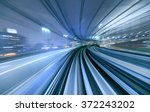 motion blur of train moving... | Shutterstock . vector #372243202