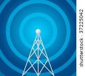 radio tower shape   Shutterstock .eps vector #37225042