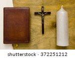 Catholic Bible Bound In Leathe...