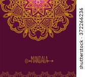 vector card with glow mandala.... | Shutterstock .eps vector #372266236
