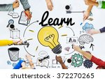 learn learning education... | Shutterstock . vector #372270265