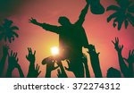 silhouettes of people in music... | Shutterstock . vector #372274312