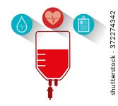 blood donation campaign | Shutterstock .eps vector #372274342