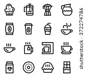 coffee  coffee shop line icon...