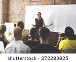 business team training... | Shutterstock . vector #372283825