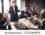 meeting corporate success... | Shutterstock . vector #372284992