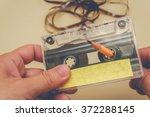 Man Rewind A Cassette Tape  ...