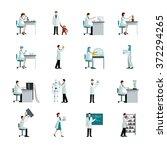 scientists decorative flat... | Shutterstock .eps vector #372294265