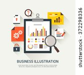 vector business flat... | Shutterstock .eps vector #372298336