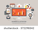 vector business flat... | Shutterstock .eps vector #372298342