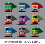 set of nine different types of... | Shutterstock .eps vector #372311842