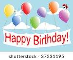 happy birthday  | Shutterstock .eps vector #37231195