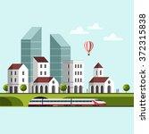 cityscape. urban landscape and...   Shutterstock .eps vector #372315838