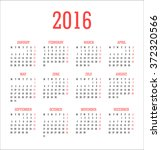calendar 2016   vector... | Shutterstock .eps vector #372320566