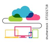 cloud computing technology... | Shutterstock .eps vector #372321718