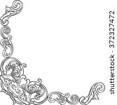 luxury corner is isolated on... | Shutterstock . vector #372327472