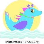 alien sea horse vector | Shutterstock .eps vector #37233679