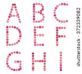 vector spring alphabet with... | Shutterstock .eps vector #372339082